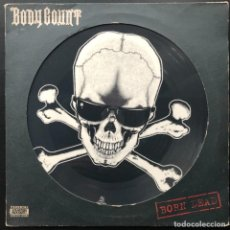 Discos de vinilo: BODY COUNT – BORN DEAD SYNDTP 4, MAXI-SINGLE, PICTURE DISC UK 1994 VINILO VG+. Lote 207047705