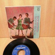 Discos de vinilo: LOS 3 CARINO. UNO PARA TODAS, BÉSAME ESTA NOCHE, EP 1963.. Lote 207052208