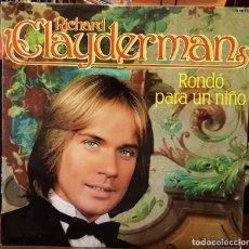Discos de vinilo: RICHARD CLAYDERMAN - RONDÓ PARA UN NIÑO - 2 LPS. Lote 207063101