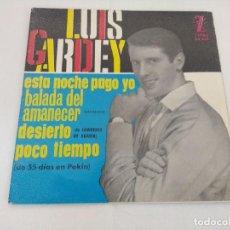 Discos de vinilo: SINGLE/LUIS GARDEY/ESTA NOCHE PAGO YO.. Lote 207068476