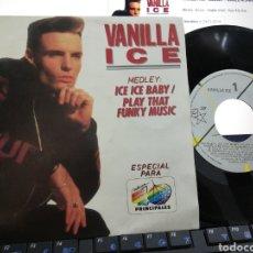 Discos de vinilo: VANILLA ICE MEDLEY SINGLE PROMOCIONAL 40 PRINCIPALES NUMERADO ESPAÑA 1991. Lote 207082488