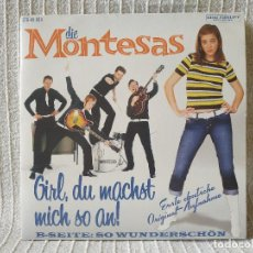 Discos de vinilo: DIE MONTESAS ?– GIRL, DU MACHST MICH SO AN! - FANTÁSTICO SINGLE PORTADA ABIERTA CON PEINE NEAR MINT. Lote 207097988