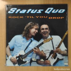 Discos de vinilo: STATUS QUO - ROCK TIL YOU DROP - LP. Lote 207098301