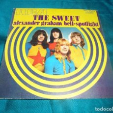 Discos de vinilo: THE SWEET. ALEXANDER GRAHAN BELL / SPOTLIGHT. RCA, 1971. SPAIN. PROMOCIONAL (#). Lote 207109280