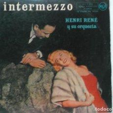 Discos de vinilo: HENRI RENE Y SU ORQUESTA-INTERMEZZO-ORIGINAL ESPAÑOL AÑOS 50. Lote 207123187