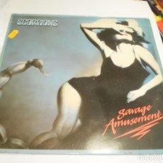 Discos de vinilo: LP SCORPIONS. SAVAGE AMUSEMENT. HARVEST 1988 SPAIN (PROBADO Y BIEN). Lote 207128460