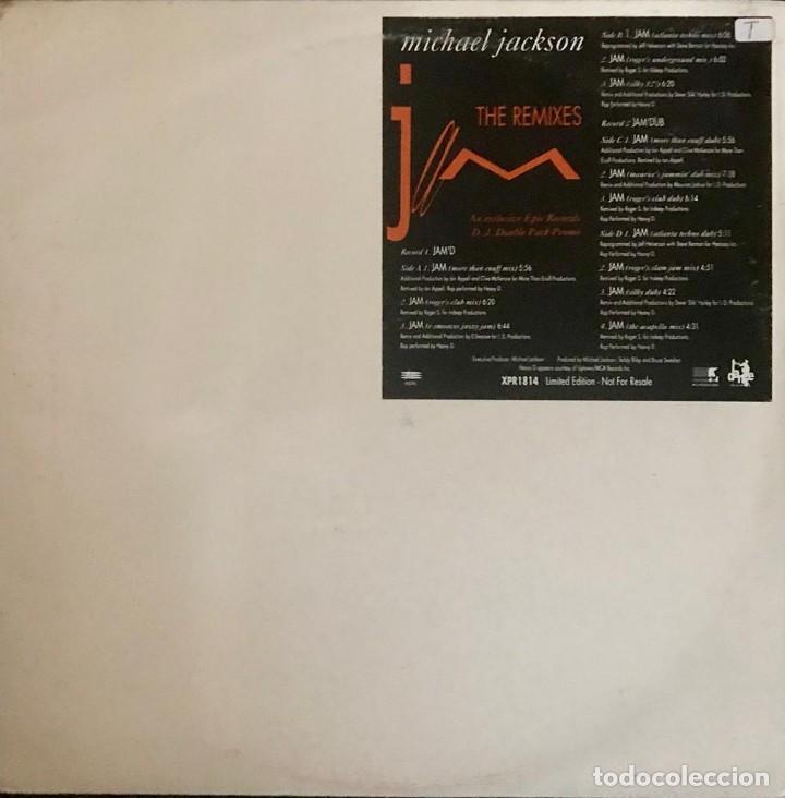 """MICHAEL JACKSON JAM THE REMIXES DOBLE DISCO VINILO 12"""" 1992 RARO PROMO (Música - Discos - Singles Vinilo - Pop - Rock Internacional de los 90 a la actualidad)"""