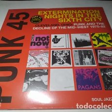 Discos de vinilo: LP - PUNK 45: EXTERMINATION NIGHTS IN THE SIXTH CITY! - SJR LP300 - 2LP ( ¡¡ NUEVO!! ). Lote 207132878