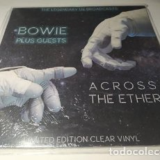 Discos de vinilo: LP - BOWIE PLUS GUESTS ‎– ACROSS THE ETHER (THE LEGENDARY US BRODCASTS) - CPLVNY 255( ¡¡ NUEVO!! ). Lote 207133150