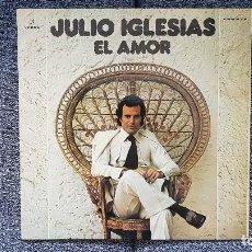 Discos de vinilo: JULIO IGLESIAS - EL AMOR. CARÁTULA DOBLE CON LETRA DE CANCIONES. EDITADO POR COLUMBIA. AÑO 1.975. Lote 207138002