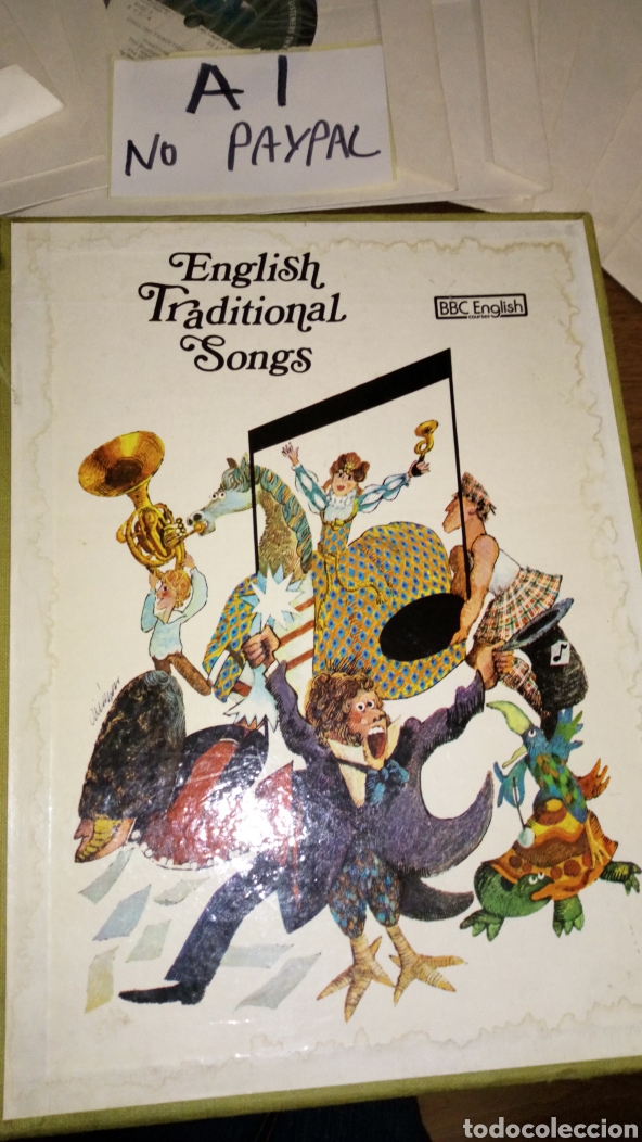 Discos de vinilo: Lote 13 single english traditional songs bbc courses curso ver fotos caja necesita limpieza manchas - Foto 5 - 207144161