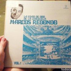 Discos de vinilo: LA EDAD DE ORO DE LA ZARZUELA. MARCOS REDONDO. VINILO. DOS VOLÚMENES.. Lote 207154206