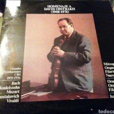 Discos de vinilo: HOMENAJE A DAVID OISTRAKH. 1908 1974 VINILO. DOS DISCOS.. Lote 207154430