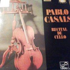 Discos de vinilo: PABLO CASALS. RECITAL DE CELLO. VINILO.. Lote 207154490