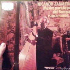 Discos de vinilo: NICANOR ZABALETA. MÚSICA PARA ARPA DEL BARROCO. VINILO.. Lote 207154801