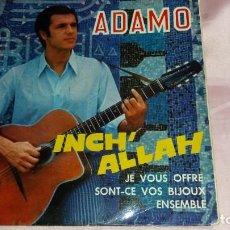 Discos de vinilo: ADAMO - EP SPAIN - VER FOTOS. Lote 207179928