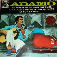 Discos de vinilo: ADAMO - EP SPAIN - VER FOTOS. Lote 207180102