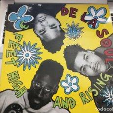 Discos de vinilo: DE LA SOUL - 3 FEET HIGH AND RISING (LP, ALBUM) 1989. GASA. TOMMY BOY 40357. NUEVO SIN PRECINTAR. Lote 207202692