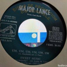 Dischi in vinile: MAJOR LANCE EP PROMOCIONAL UM,UM,UM,UM,UM,UM + 3 ESPAÑA 1964. Lote 207204142