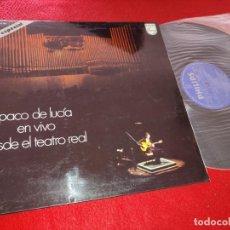 Discos de vinilo: PACO DE LUCIA EN VIVO DESDE EL TEATRO REAL LP 1975 PHILIPS ESPAÑA GATEFOLD SPAIN GUITARRA GUITAR. Lote 207204367