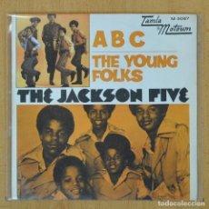 Discos de vinilo: THE JACKSON FIVE - ABC / THE YOUNG FOLKS - SINGLE. Lote 207205623