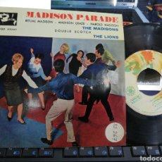 Discos de vinilo: THE MADISONS / THE LIONS EP MADISON PARADE ESPAÑA 1962. Lote 207212927