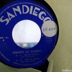 Discos de vinilo: CONJUNTO LOS DIAMANTES EP ASÍ ES CALELLA + 3 1966. Lote 207215500