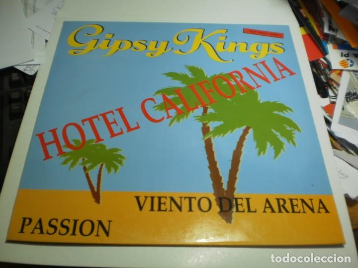 Discos de vinilo: maxi single gipsy kings. hotel california. cbs sony 1991 spain (probado, bien, seminuevo) - Foto 1 - 207215572