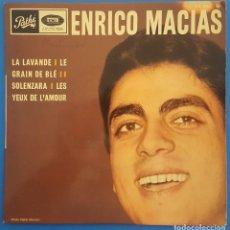 Discos de vinilo: EP / ENRICO MACIAS / LA LAVANDE +3 / EMI PATHE 1966 FRANCIA. Lote 207216982
