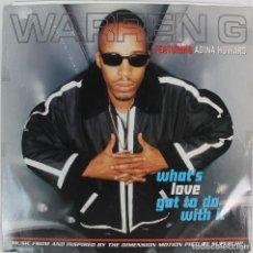 Discos de vinilo: DISCO VINILO --WARREN G --WHAT'S LOVE GOT TO DO WITH IT. Lote 207221257