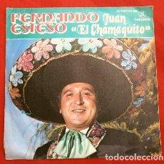 Discos de vinilo: FERNANDO ESTESO (SINGLE HUMOR 1980 PROMOCIONAL) JUAN EL CHAMAQUITO - FRITA POR MI. Lote 207223007