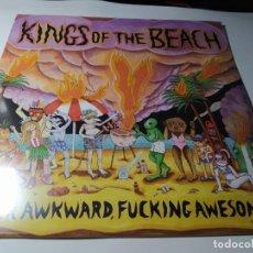 Discos de vinilo: LP - KINGS OF THE BEACH – SUPER AWKWARD, FUCKING AWESOME - CO-007LP ( ¡¡ NUEVO!! ). Lote 207226526