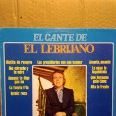 Discos de vinilo: EL CANTE DE EL LEBRIJANO. Lote 207228001