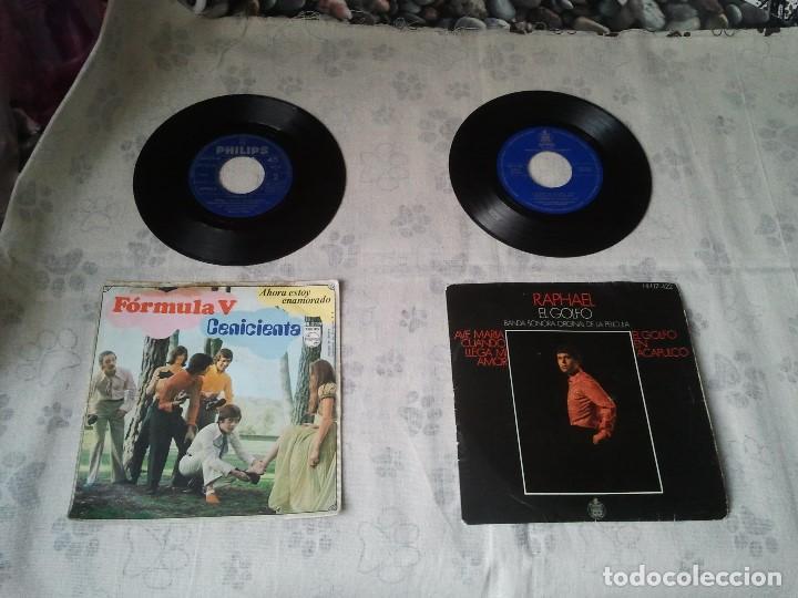 ANTIGUO LOTE DE DISCOS RETRO DE FORMULA V Y RAPHAEL (BANDA SONORA EL GOLFO) (Música - Discos - Singles Vinilo - Pop - Rock Internacional de los 50 y 60)