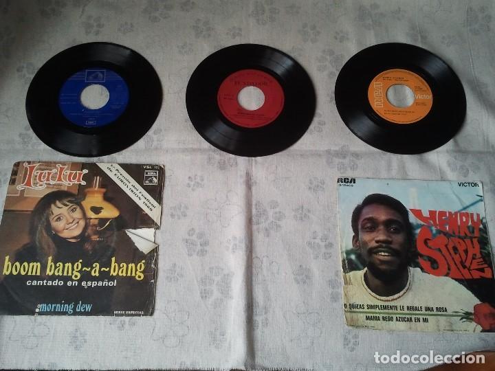 LOTE ANTIGUO DE DISCOS DE VINILO DE LULU, HENRY STEPHEN Y FUNDADOR AÑO 1969 (Música - Discos - Singles Vinilo - Pop - Rock Extranjero de los 50 y 60)
