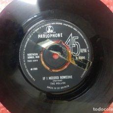 Discos de vinilo: SOLO DISCO THE HOLLIES - IF I NEED SOMEONE - TEMA DE LOS BEATLES - PRIMERA EDICIÓN PARLOPHONE 1965. Lote 207247971