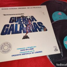 Discos de vinilo: BSO STAR WARS LA GUERRA DE LAS GALAXIAS JOHN WILLIAMS 2LP 1977 MOVIEPLAY ESPAÑA SPAIN SIN POSTER. Lote 207260756