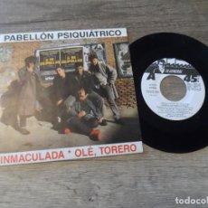 Discos de vinilo: PABELLON PSIQUIATRICO INMACULADA. Lote 207272036