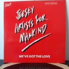 Discos de vinilo: JERSEY ARTISTS FOR MANKIND. 1986. MAXISINGLE.. Lote 207275733