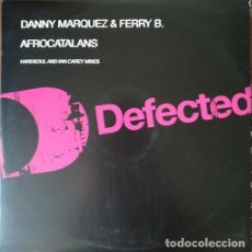 Discos de vinilo: DANNY MARQUEZ & FERRY B – AFROCATALANS - MAXI SINGLE 12 PULGADAS ELECTRONICA HOUSE. Lote 207276338