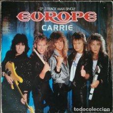 Discos de vinilo: EUROPE JOHN NORUM JOEY TEMPEST - CARRIE - MAXI SINGLE 12 PULGADAS EDICION ESPAÑOLA. Lote 207280813