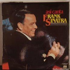 Discos de vinilo: ASI CANTA FRANK SINATRA. Lote 207284028