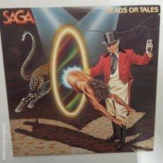 Discos de vinilo: SAGA- HEADS OR TALES - CANADA LP 1983 + ENCARTE.. Lote 207298633