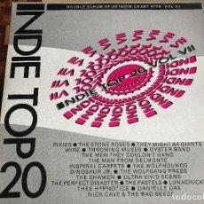Discos de vinilo: VARIOS INDIE TOP 20 VOL 7 LP DOBLE INDIE ROCK PIXIES NICK CAVE PASTELS STONE ROSES. Lote 207300885