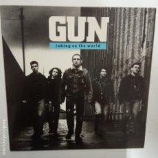 Discos de vinilo: GUN- TAKING ON THE WORLD - SPAIN LP 1989- VINILO EXC. ESTADO. Lote 207301825