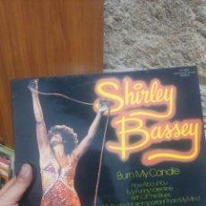 Discos de vinilo: LP SHIRLEY BASSEY BURN MY CANDLE VG++. Lote 207304067