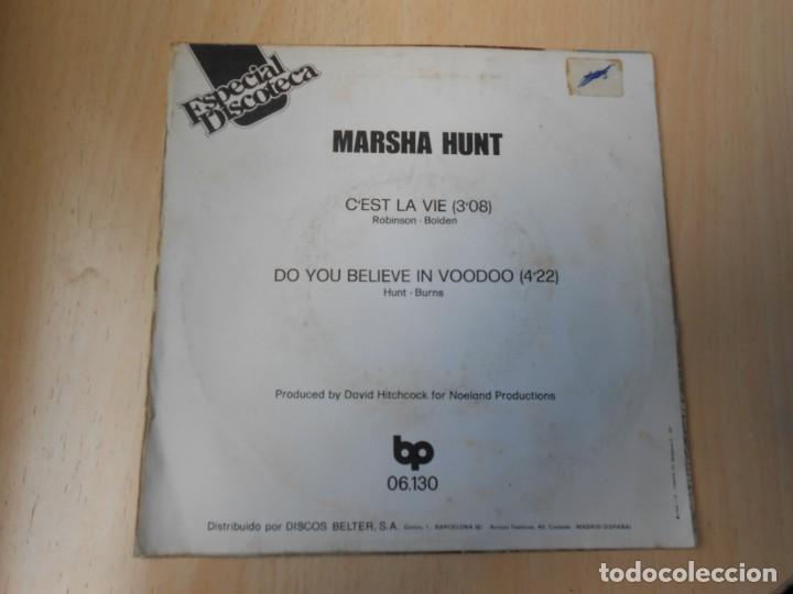 Discos de vinilo: MARSHA HUNT, SG, C´EST LA VIE + 1, AÑO 1976 - Foto 2 - 207314738