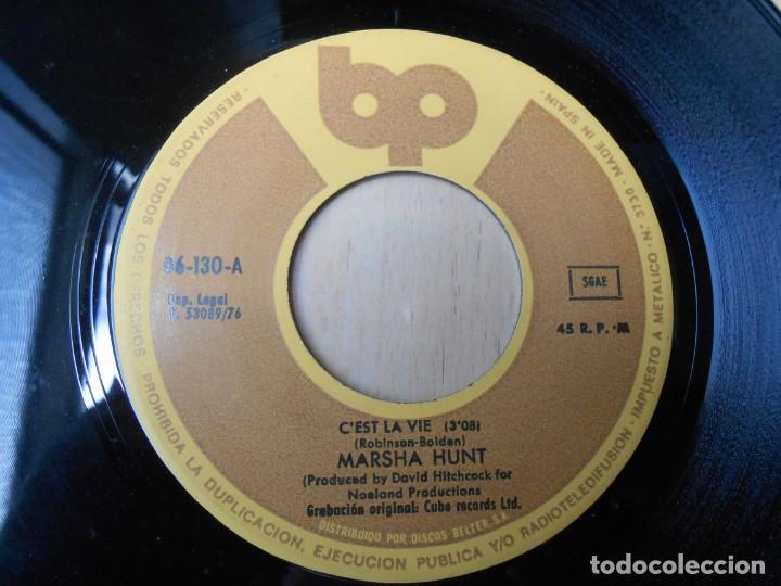 Discos de vinilo: MARSHA HUNT, SG, C´EST LA VIE + 1, AÑO 1976 - Foto 3 - 207314738