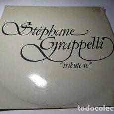Discos de vinilo: LP- STÉPHANE GRAPPELLI ?– TRIBUTE TO - L7 BS 296 ( VG+ / VG+ ) SPAIN 1981. Lote 207315695