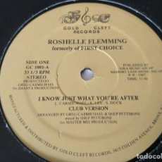 "Discos de vinilo: ROSHELLE FLEMMING FORMERLY OF FIRST CHOICE* - I KNOW JUST WHAT YOU'RE AFTER (12""). Lote 207319960"